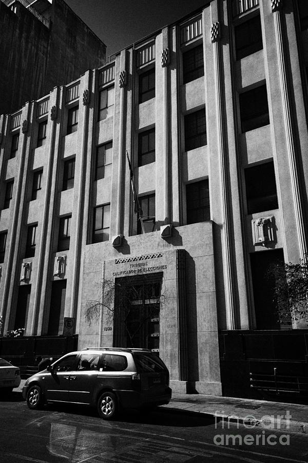 Tribunal Photograph - tribunal calificador de elecciones electoral court of chile Santiago Chile by Joe Fox