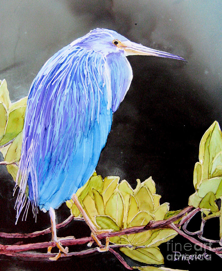 Heron Painting - Tricolored Heron by Diane Marcotte