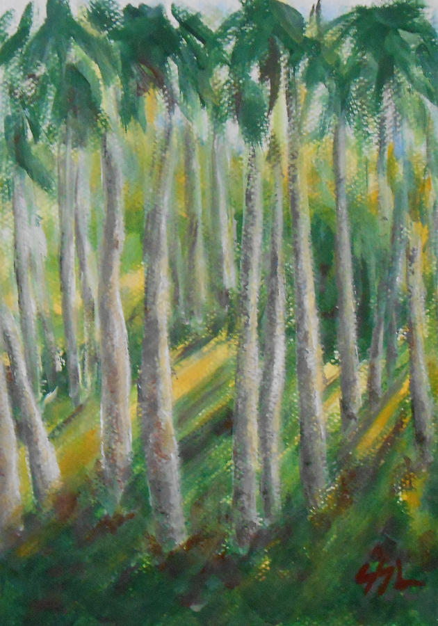 Landscape Painting - Tropical by Jane  See