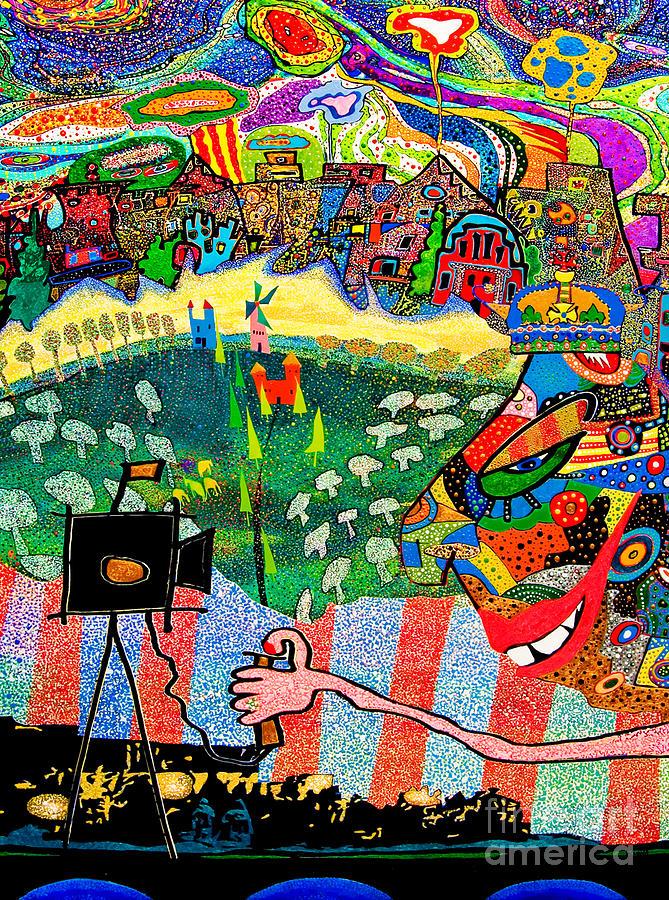 Pointillist Painting - Trust Me by Johny Deluna