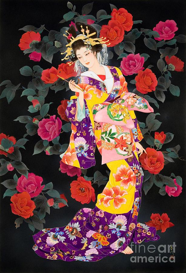 Adult Digital Art - Tsubaki by Haruyo Morita