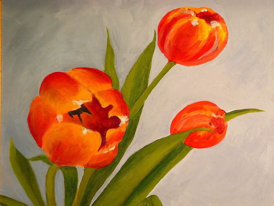 Tulips Painting - Tulips by Valerie Lynch