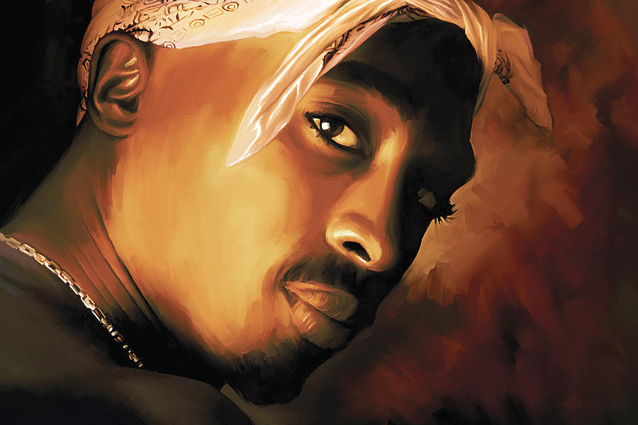Hip Hop Prints Painting - Tupac Shakur by Sheraz A
