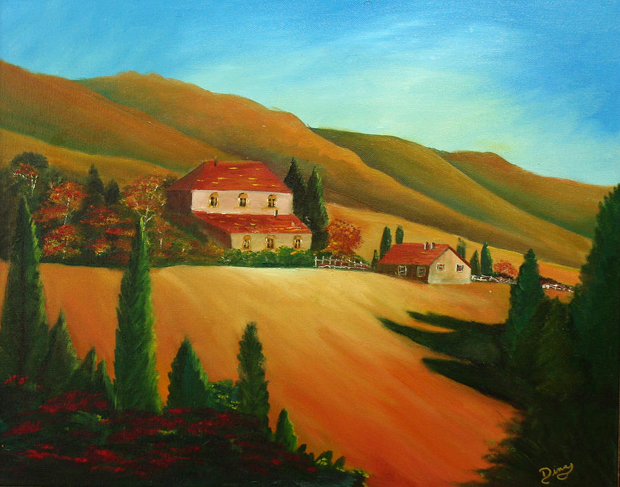 Painting Painting - Tuscan Countryside by Dina Jacobs