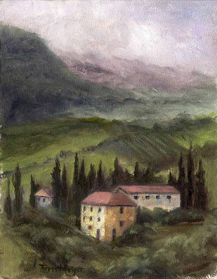 Italian Landscape Painting Painting - Tuscan Landscape by Terri  Meyer