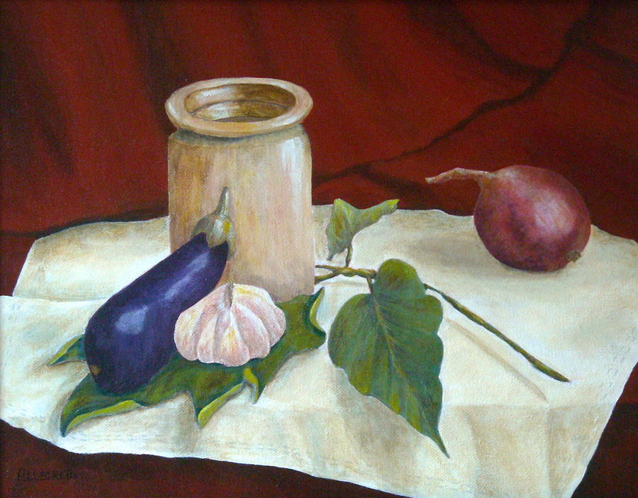 Pamela Allegretto Painting - Tuscan Table by Pamela Allegretto