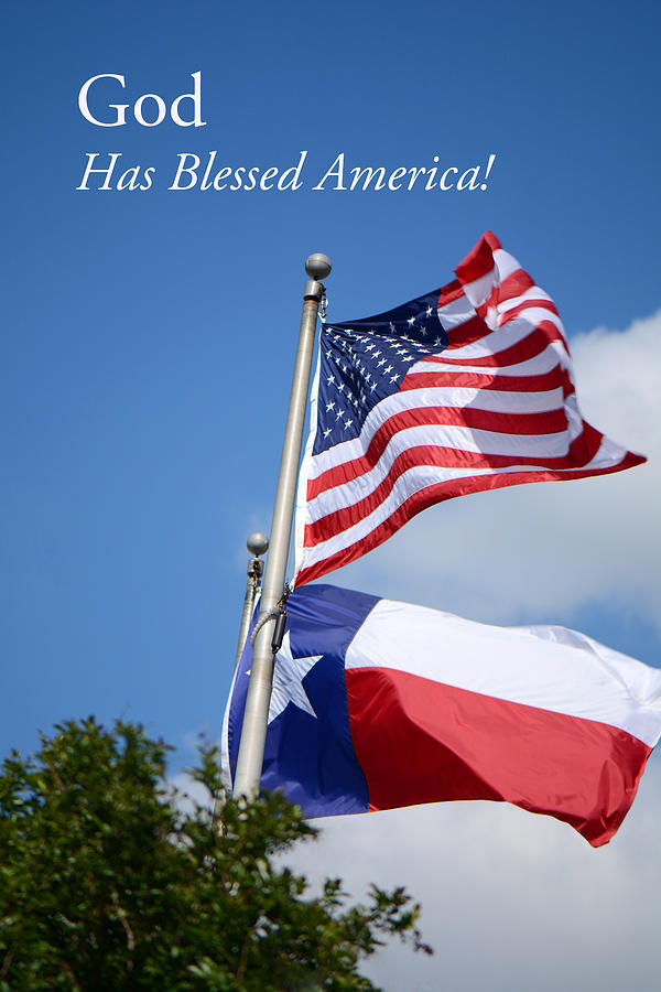American Flag Photograph - God Has Blessed America by Connie Fox