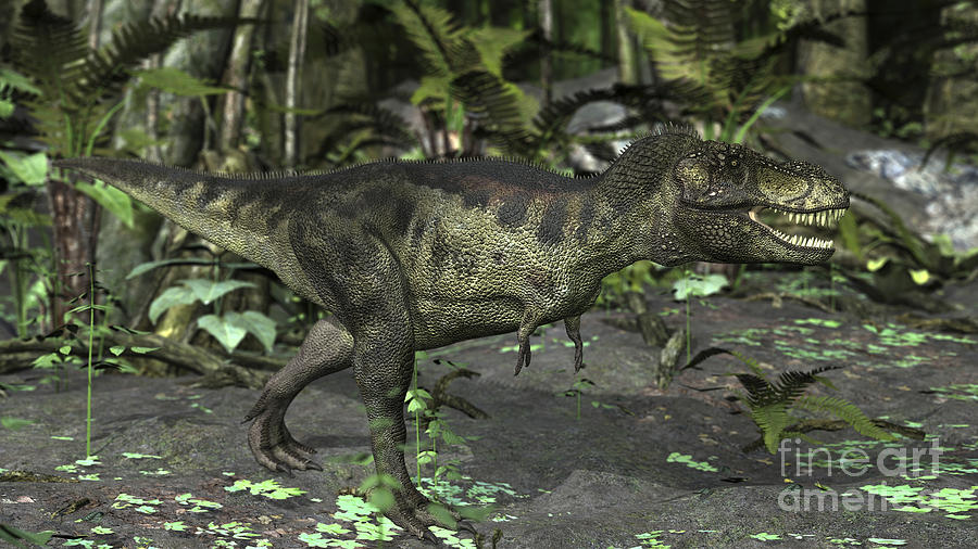 Tyrannosaurus Rex In Prehistoric Digital Art