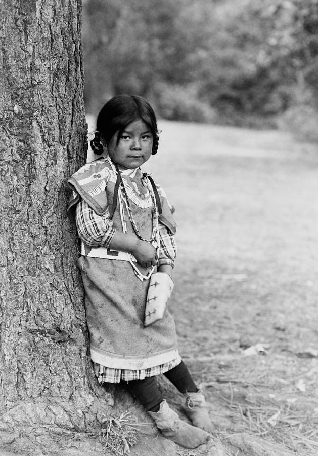 Umatilla Girl Circa 1910 Photograph