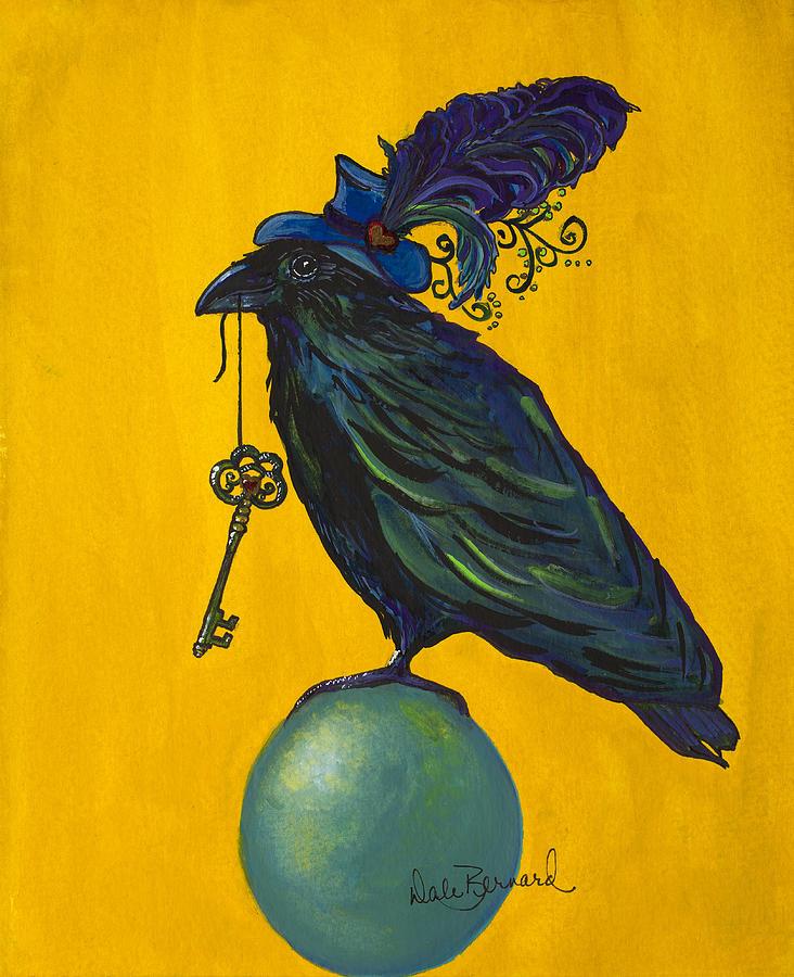 Raven Painting - Uncommon Raven Love 2 by Dale Bernard