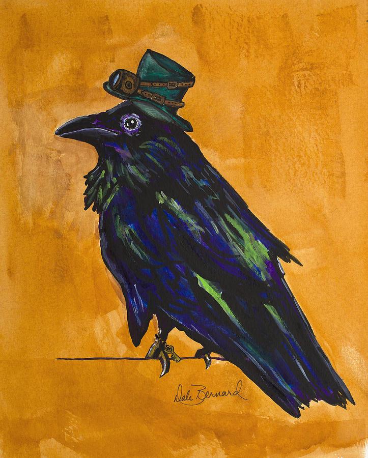 Raven Painting - Uncommon Raven Love 4 by Dale Bernard
