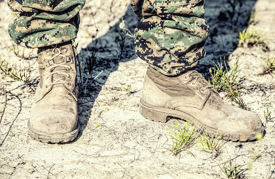 United States Marine Corps Combat Boots by Oleg Zabielin