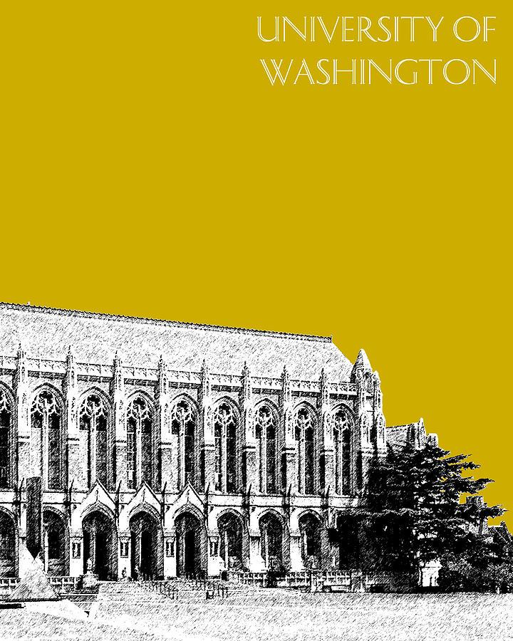 University Digital Art - University Of Washington - Suzzallo Library - Gold by DB Artist