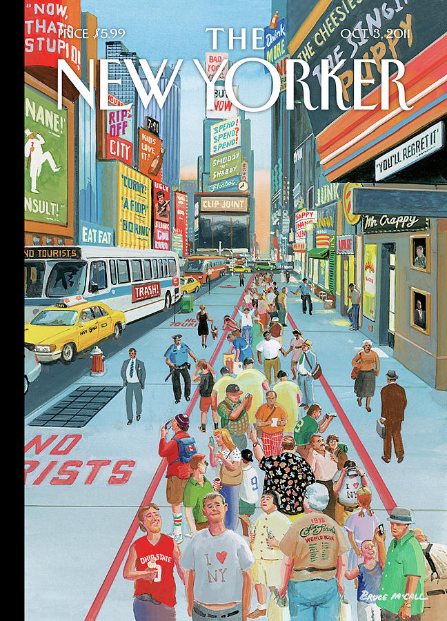New Yorker October 3rd, 2011 Painting by Bruce McCall