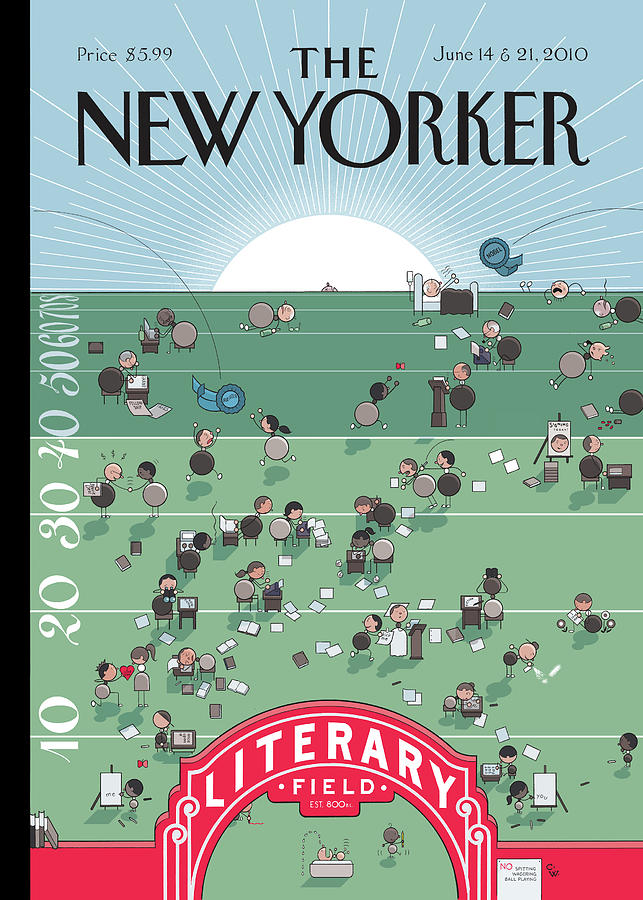 New Yorker June 14th, 2010 Painting by Chris Ware