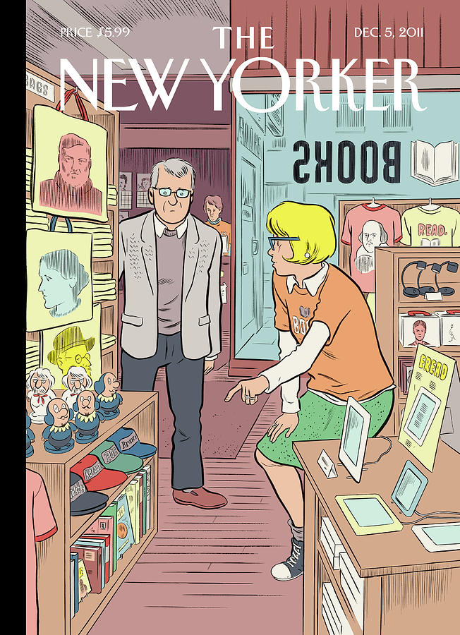 New Yorker December 5th, 2011 Painting by Dan Clowes