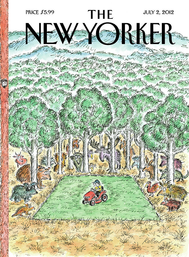 New Yorker July 2nd, 2012 Painting by Edward Koren