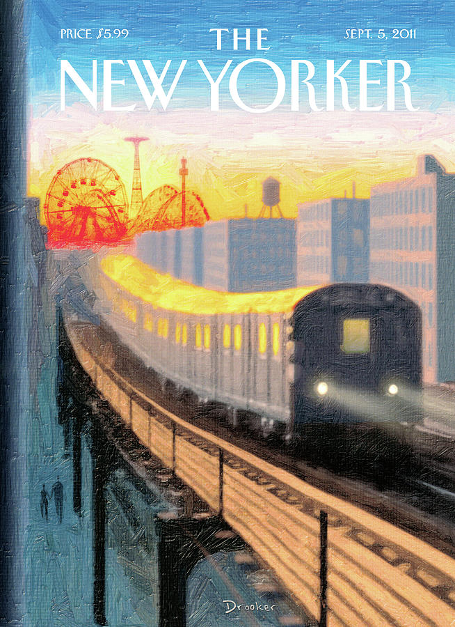 Coney Island Painting - New Yorker September 5th, 2011 by Eric Drooker