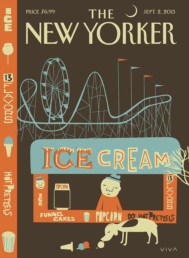 New Yorker September 2nd, 2013 Painting by Frank Viva