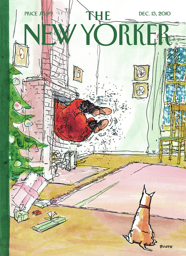 New Yorker December 13th, 2010 Painting by George Booth