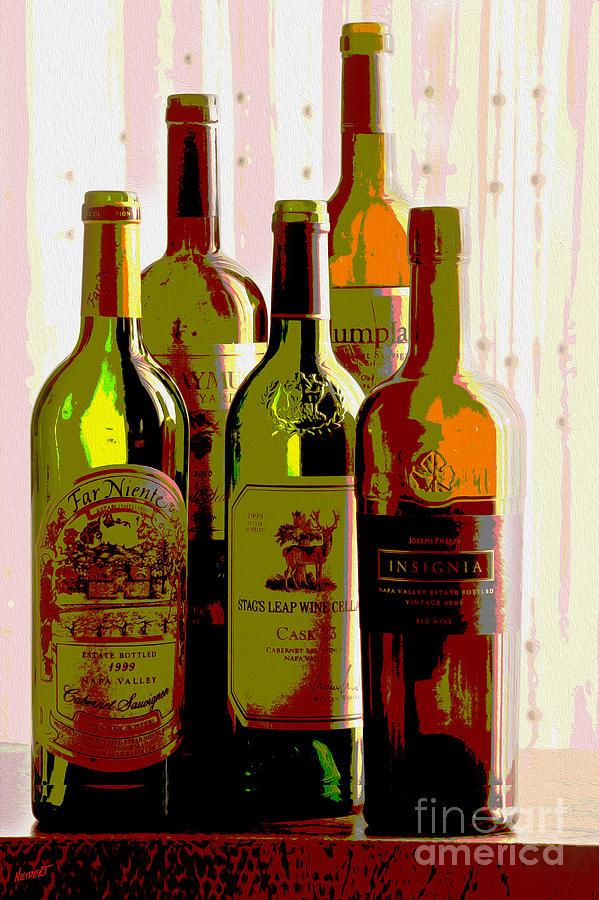 Wine Mixed Media - Untitled by Jon Neidert
