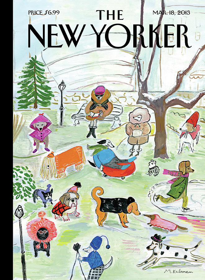 Canine Couture Painting by Maira Kalman