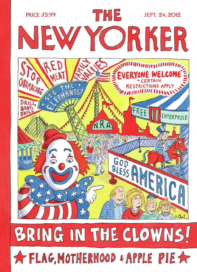 Bring In The Clowns Painting by Roz Chast