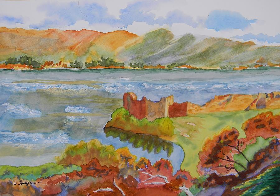 Urquhart Castle Painting - Urquhart Castle by Warren Thompson