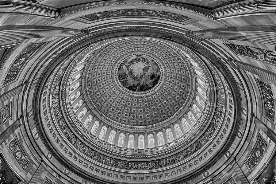 Capitol Photograph - Us Capitol Rotunda by Susan Candelario