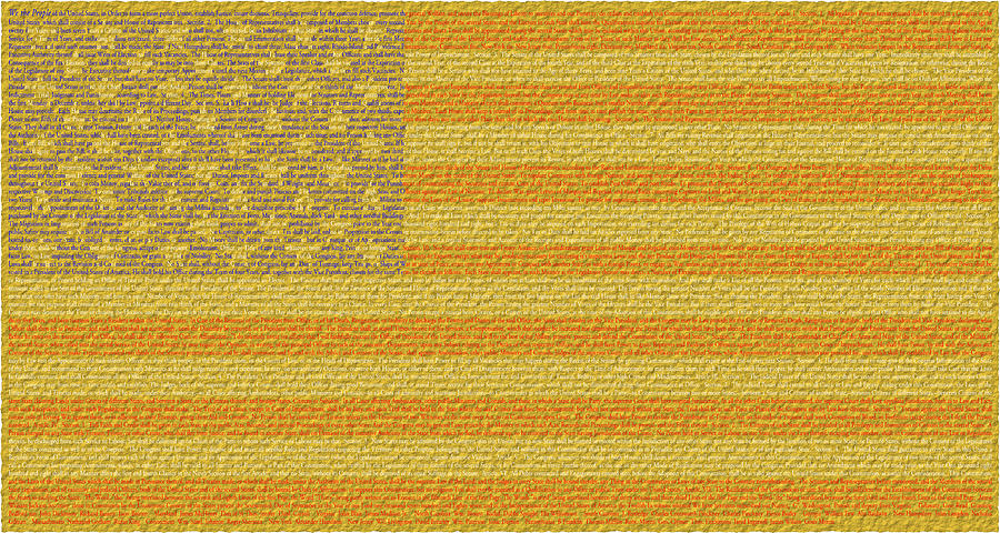 Us Constitution Flag Digital Art