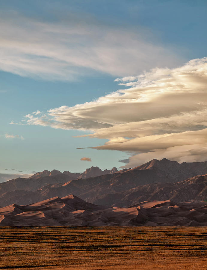 Altocumulus Photograph - Usa, Colorado, Great Sand Dunes by Ann Collins