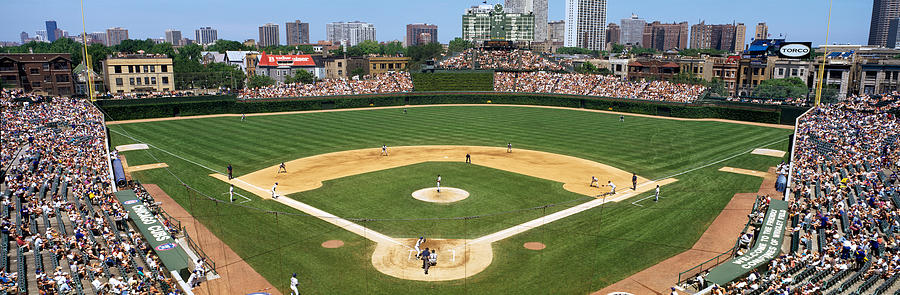 Color Image Photograph - Usa, Illinois, Chicago, Cubs, Baseball by Panoramic Images