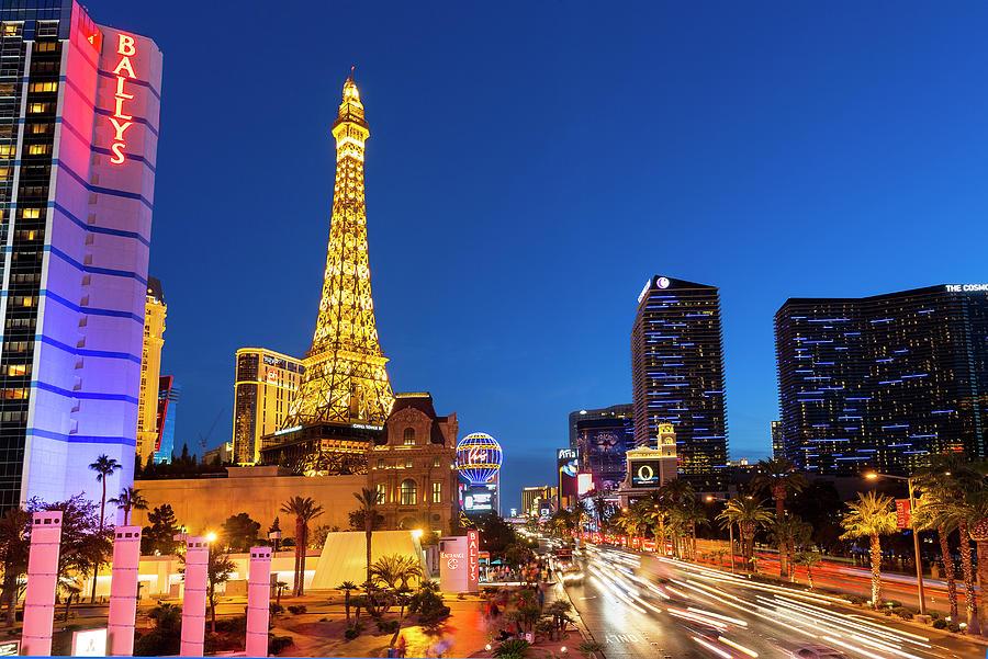 Usa, Nevada, Las Vegas, Paris Las Vegas Photograph by Sylvain Sonnet