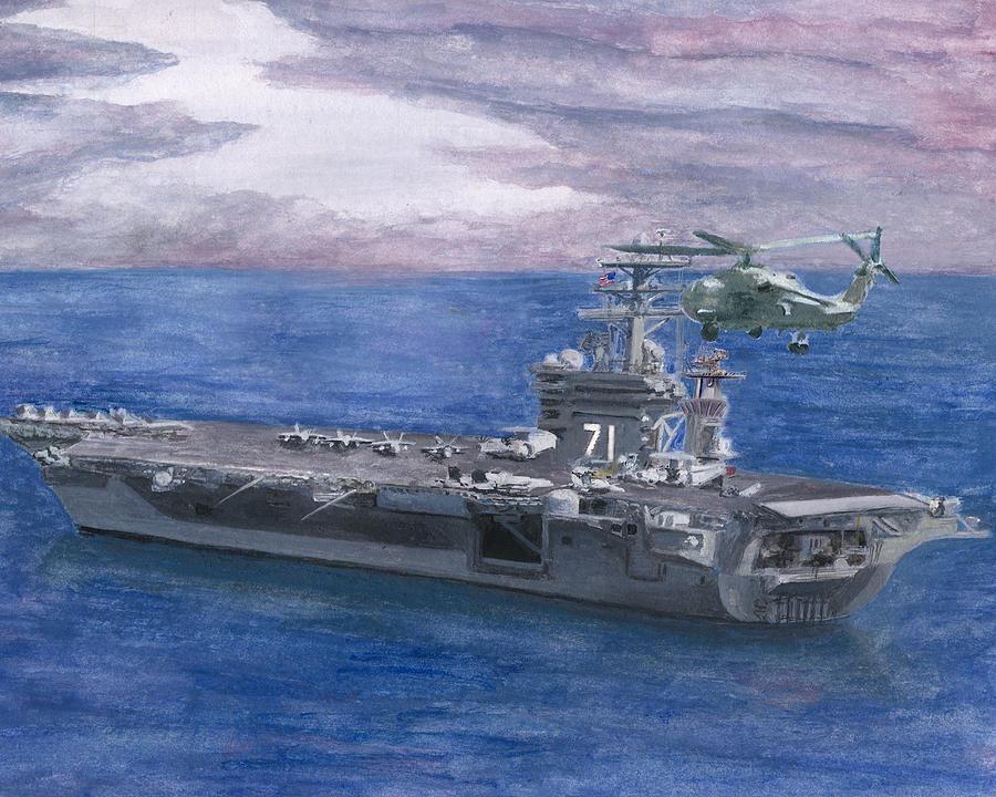 Roosevelt Painting - Uss Roosevelt by Sarah Howland-Ludwig