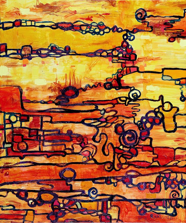 Zero Point Painting - Vacuum Energy by Regina Valluzzi