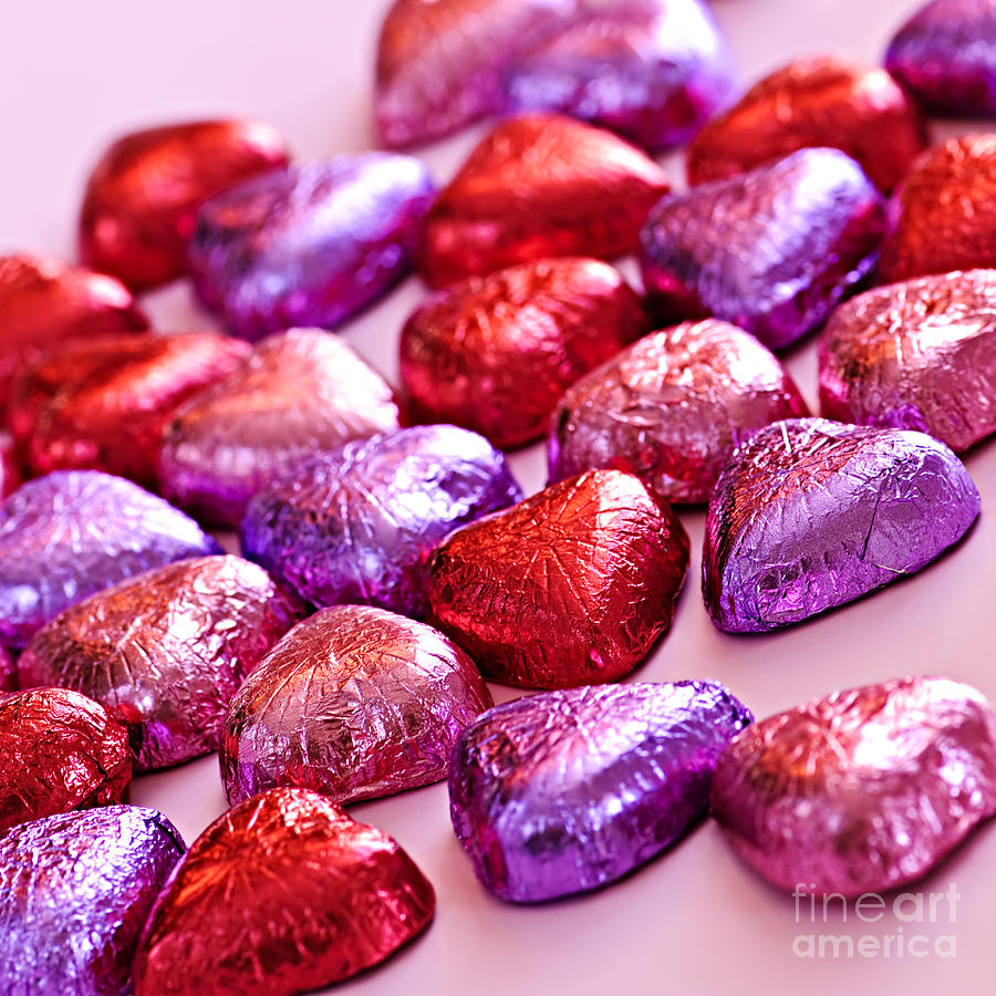 Candy Photograph - Valentine Hearts by Elena Elisseeva