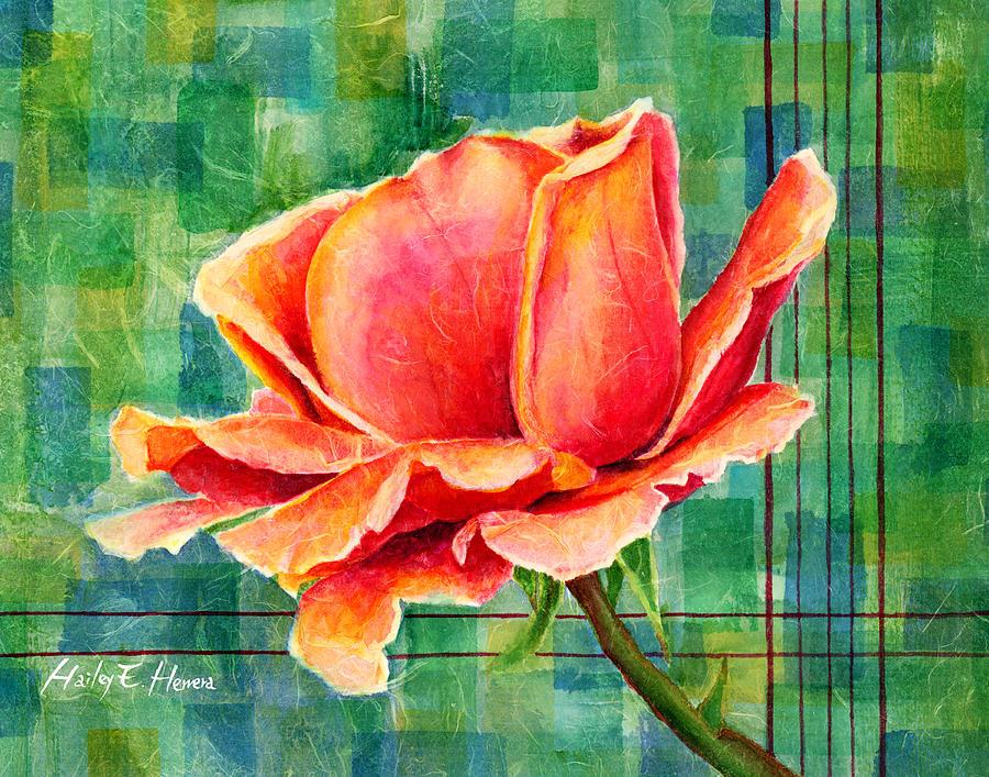 Valentine Rose Painting