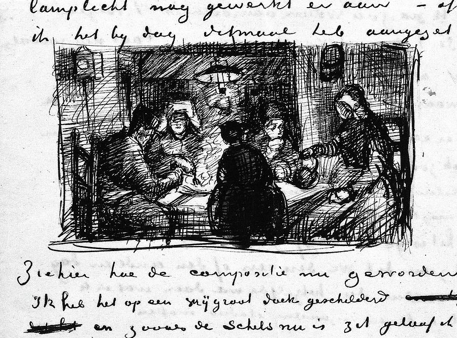 1885 Painting - Van Gogh Letter by Granger