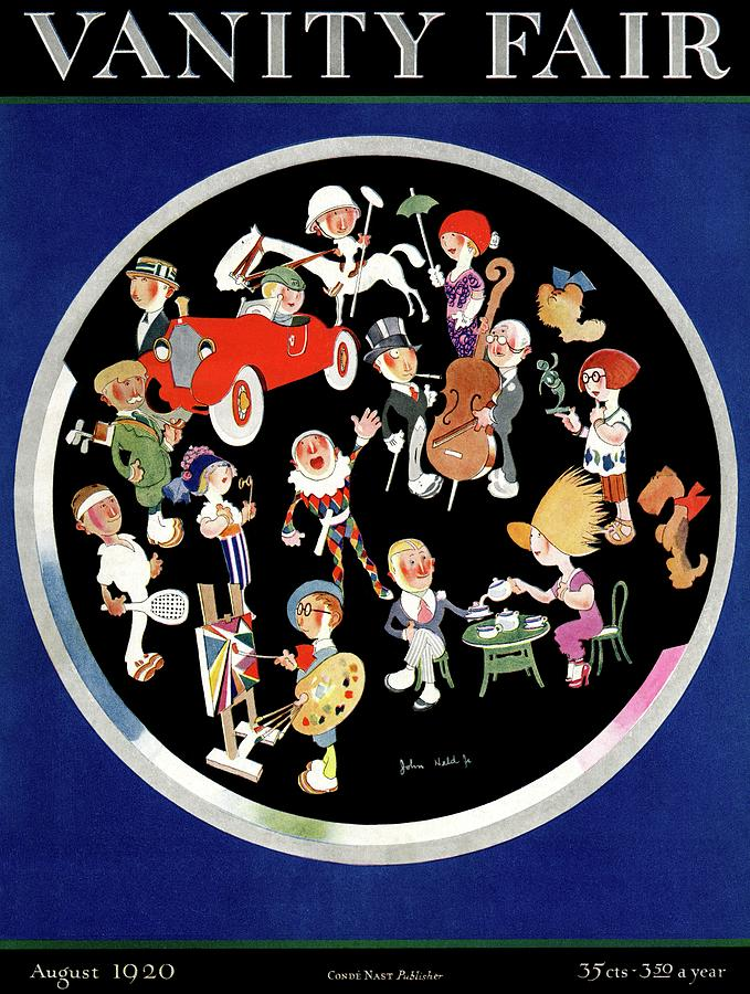 Vanity Fair Cover Featuring Caricatures Doing Photograph by John Held Jr