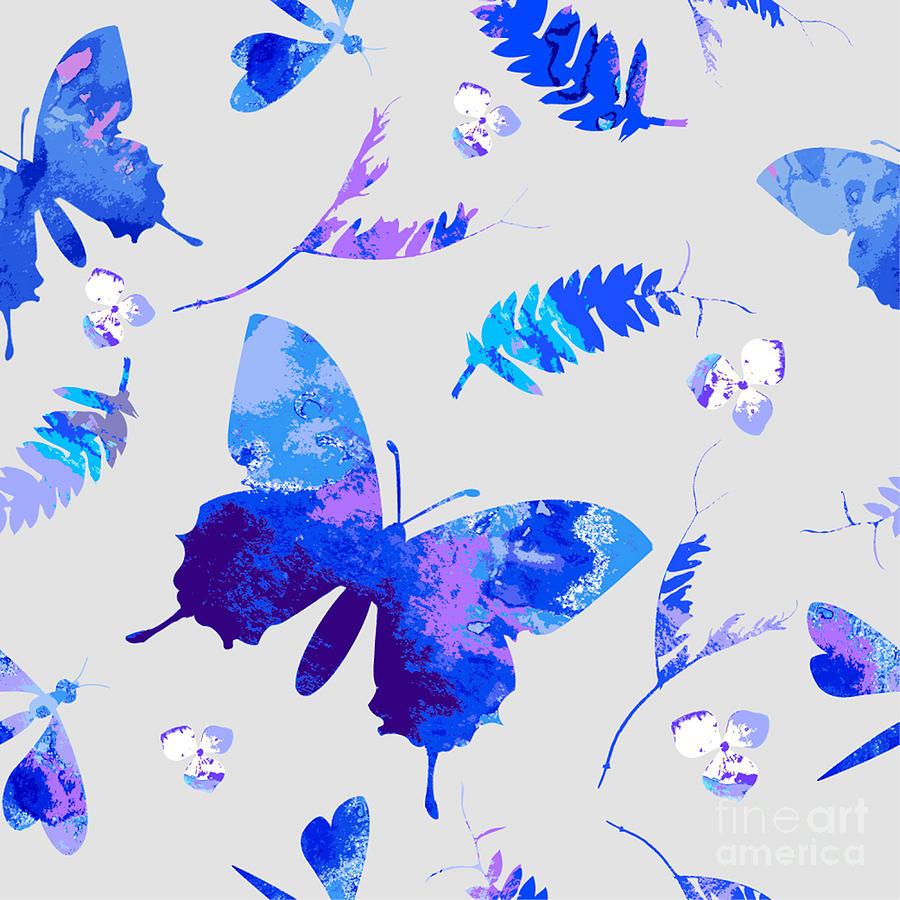 Color Digital Art - Vector Floral Watercolor Texture by Galinal