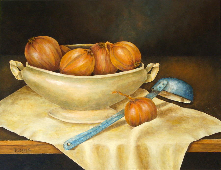 Allegretto Art Painting - Venetian Table by Pamela Allegretto