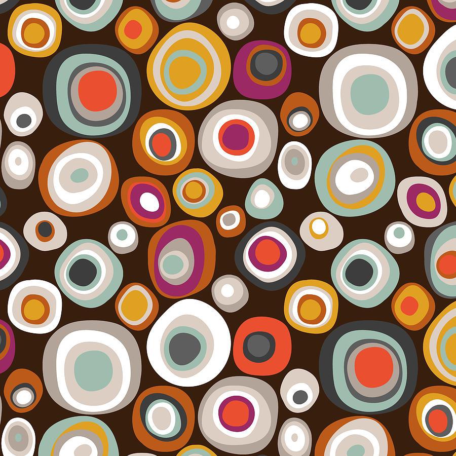 Spot Drawing - Veneto Boho Spot Chocolate by MGL Meiklejohn Graphics Licensing