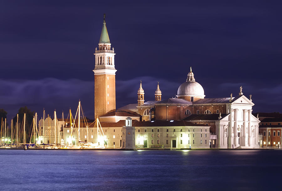 Architecture Photograph - Venice At Night by Ioan Panaite