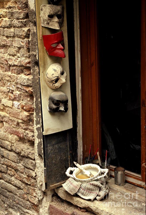 Venice Photograph - Venice Masks by Lawrence Costales