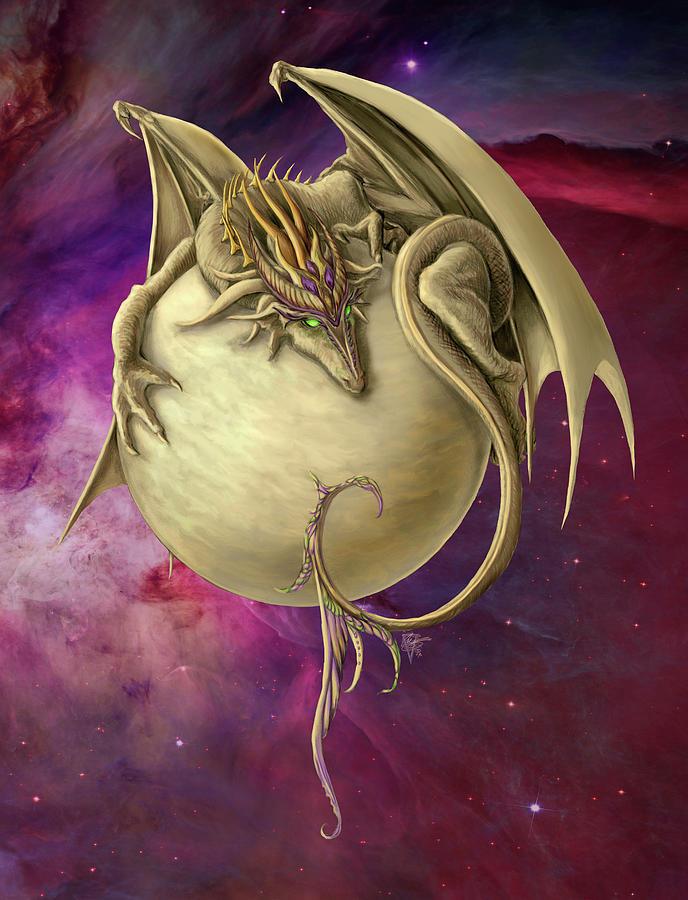 Venus Painting - Venus Dragon by MGL Meiklejohn Graphics Licensing