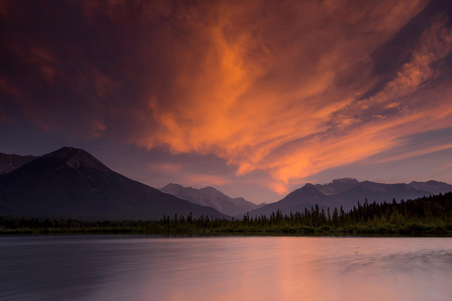 Vermillion Lakes Sunset Photograph