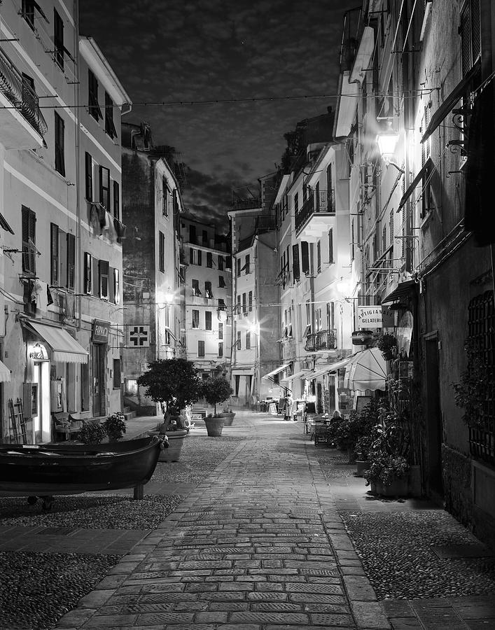 Black and white wall art photograph vernazza italy by carl amoth