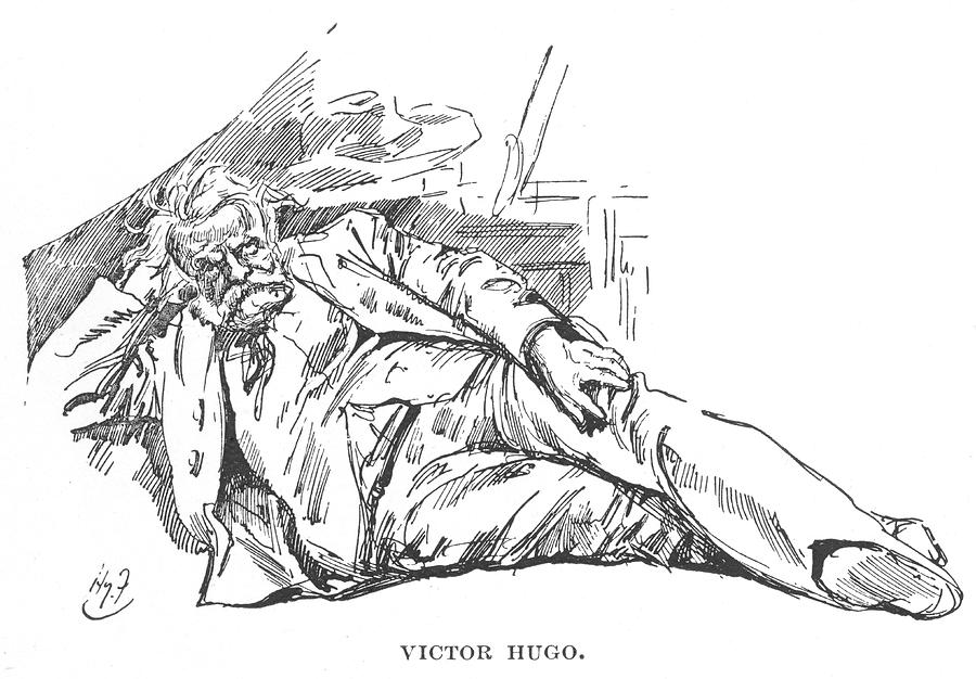 Victor Drawing - Victor Hugo  French Novelist by Mary Evans Picture Library