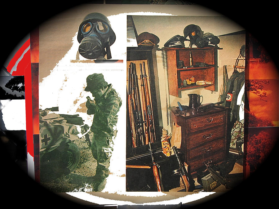 Viet Nam Medic Barry Sadler Weapons Collection Nazi Memorabilia Collage Tucson Arizona 1971-2013 Photograph by David Lee Guss