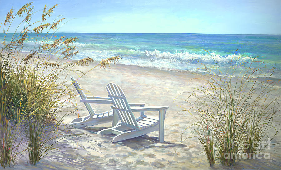 Beaches Painting - View for two. by Laurie Snow Hein
